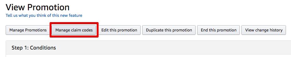 如何创建一次性使用的Amazon Promo代码