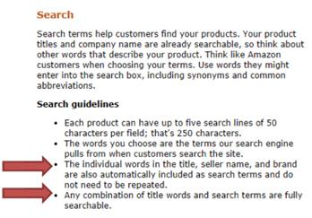 亚马逊关键词研究:格式化搜索词字段以获得最大流量