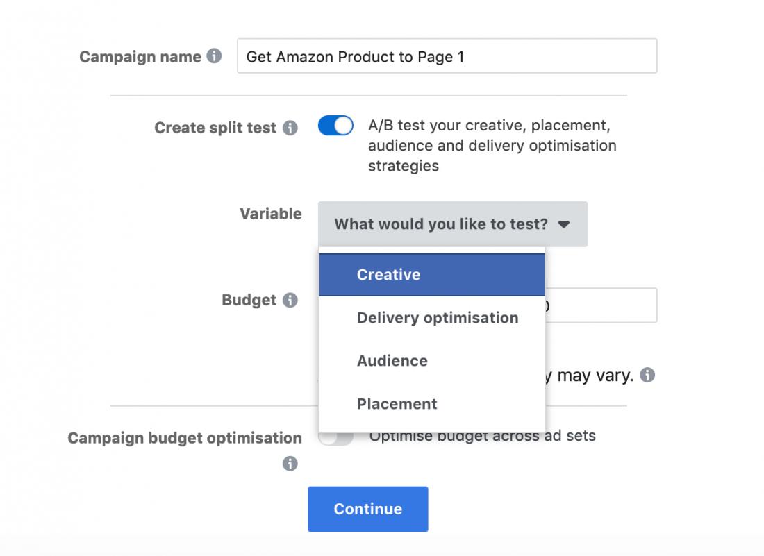 亚马逊卖家的Facebook广告提示