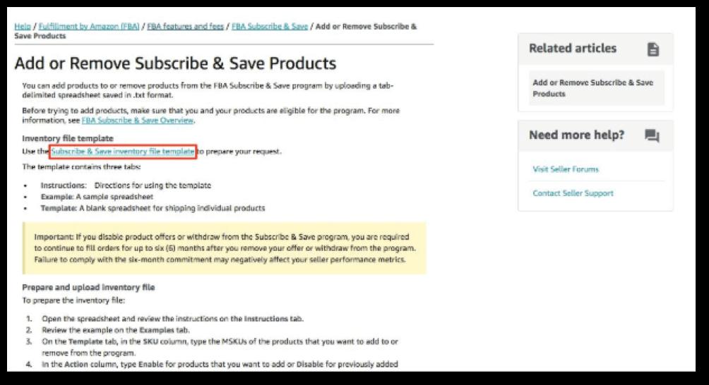 亚马逊 Subscribe And Save Program 卖家说明