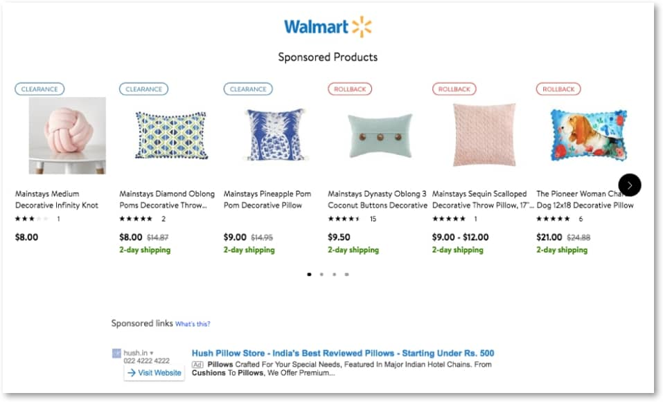 沃尔玛产品广告:赞助广告和策略