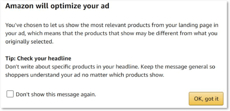 动态ASIN优化:广告赞助品牌的提示